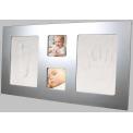 Happy Hands Large frame Silver - sada pro otisk