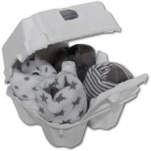 FreshWear ponožky White/Silver 4 ks