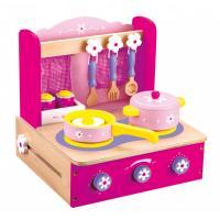 Bino Dětský vařič s příslušenstvím růžový, 10 dílů