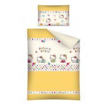 Detexpol povlečení do postýlky Hello Kitty žlutá 135x100 cm