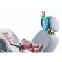 Snadné, praktické a bezpečné řešení, které udržuje rodiče v klidu během jízdy. Nerozbitné zrcátko do auta, zakřivené pro maximální možný výhled.