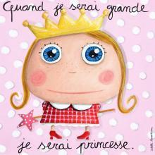 Label Tour, Obrázek na plátně Princezna 15x15 cm
