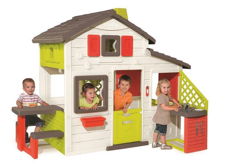 smoby dome ek friends house s kuchyn a vodou sl n. Black Bedroom Furniture Sets. Home Design Ideas