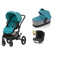 Kočárek Britax Affinity 2 s hlubokou korbou, barevným setem a autosedačkou Römer Baby-Safe plus