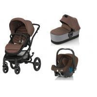 Kočárek Britax Affinity 2 s hlubokou korbou, barevným setem a autosedačkou Römer Baby-Safe Plus SHR II