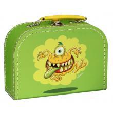 Kazeto kufr Příšerky zelený, střední 30 cm