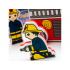 Stavebnice do vany obsahuje hasičský náklaďák z 8 dílů a 2 postavy hasičů.