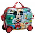 Joummabags Dětský kufřík na kolečkách Mickey Smile 41 cm