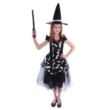 Karnevalový kostým čarodějnice netopýrka/Halloween, vel. S