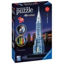 Ravensburger puzzle Chrysler building 3D - noční edice 216 dílků