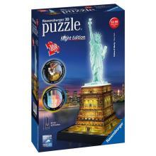 Ravensburger puzzle Socha Svobody 3D - noční edice 108 dílků