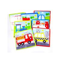 Meadow Kids Puzzle do vany/bazénku Dopravní prostředky