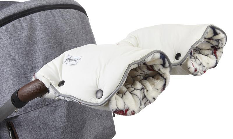 Little Angel rukavice Mazlík - krémová/ medvídci