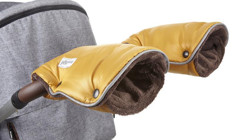 Little Angel rukavice Mazlík - zlatá/hnědá