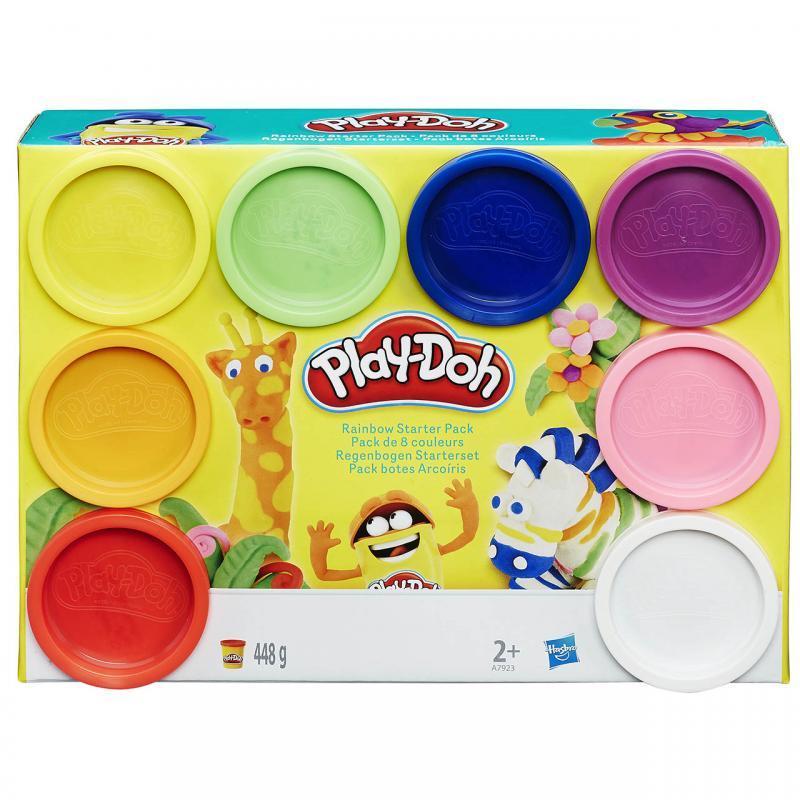 Hasbro Play-Doh Základní sada 8 ks - žirafa, zebra