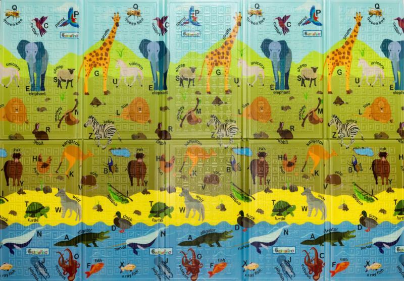 4e3e25fb789 Casmatino multifunkční hrací pěnová podložka pro děti - ABC Animals