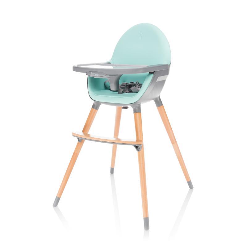 Jídelní židlička Zopa Dolce - Ice Green/Grey