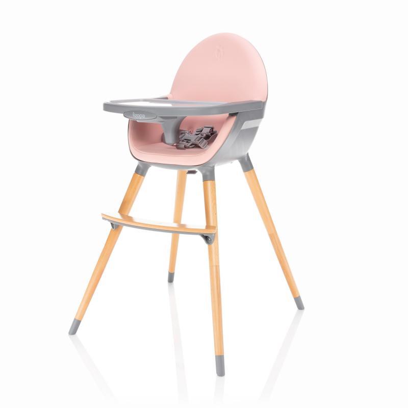 Jídelní židlička Zopa Dolce - Blush Pink/Grey