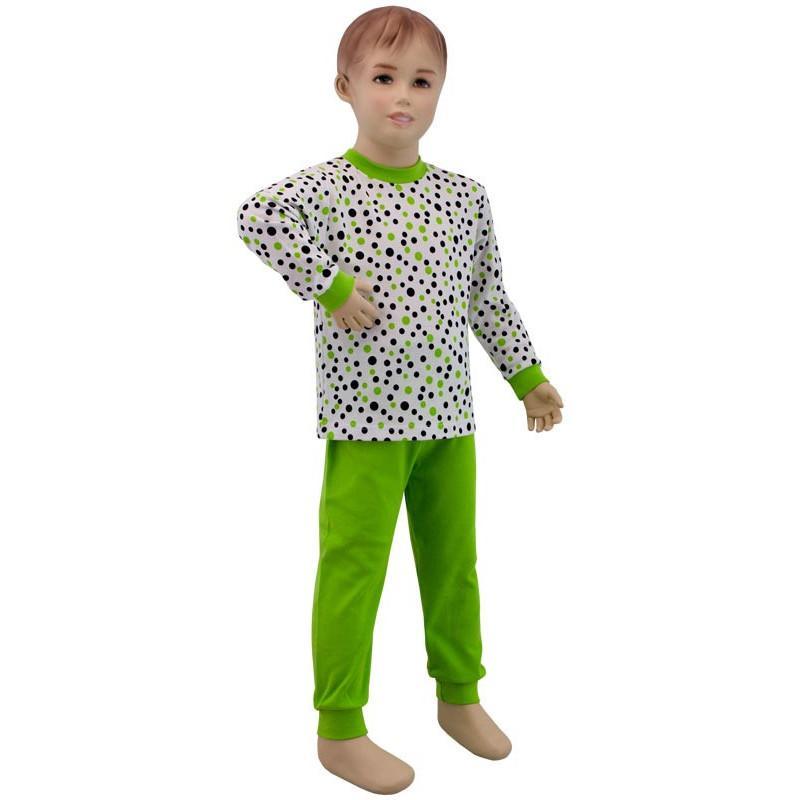 Esito Dětské pyžamo zelený puntík - vel.116