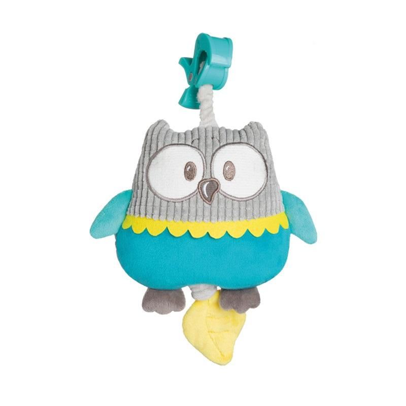 Canpol babies Plyšová hrací skříňka PASTEL FRIENDS - tyrkysová sova
