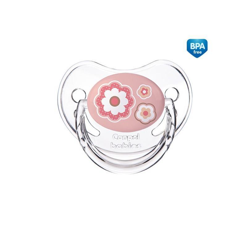 Canpol babies dudlík silikonový anatomický Newborn Baby 18m+ - růžová