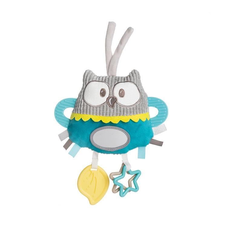 Canpol babies Plyšová edukační zavazovací hračka PASTEL FRIENDS - tyrkysová sova
