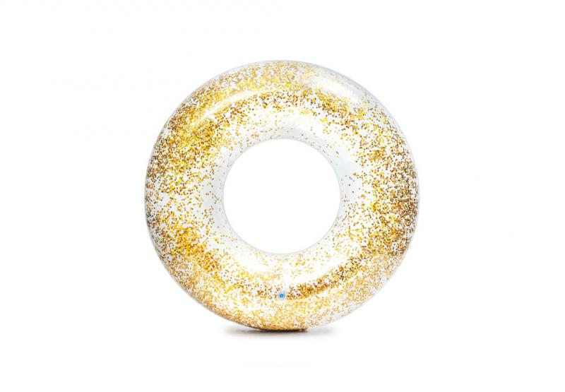 Intex nafukovací kruh flitrový - Zlatá