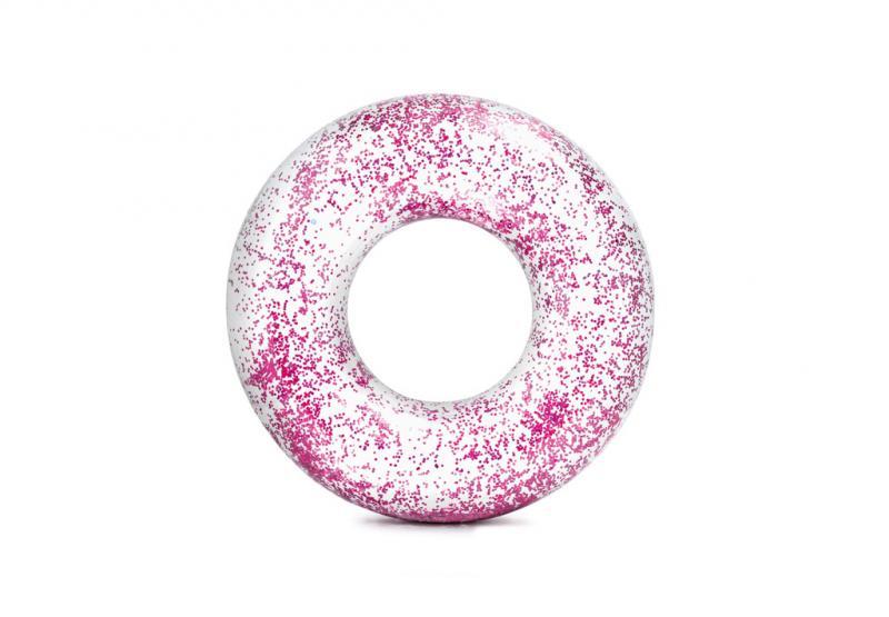 Intex nafukovací kruh flitrový - Růžová