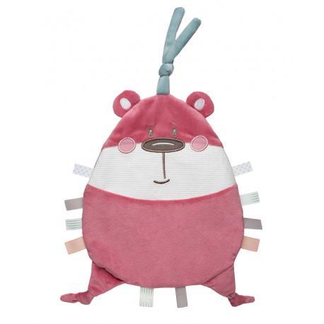 Canpol babies Plyšový mazlíček PASTEL FRIENDS - růžový medvídek