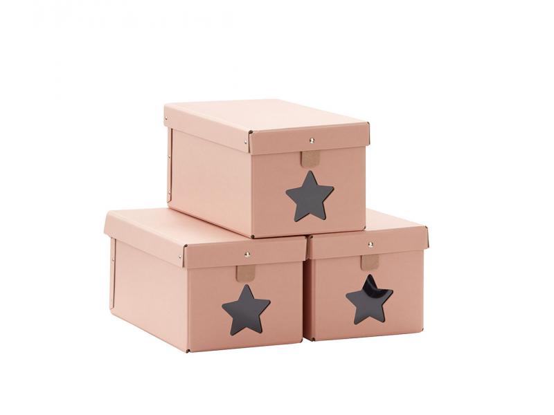 Kids Concept Krabice na boty 3ks - Pink
