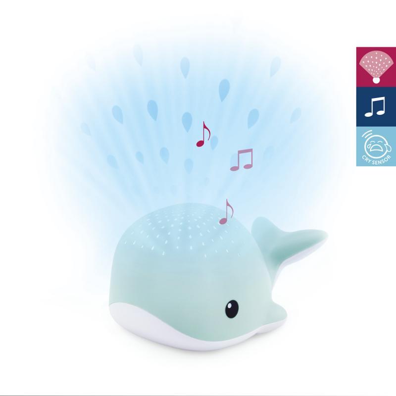 ZAZU Velryba WALLY - noční projektor s melodiemi - modrá