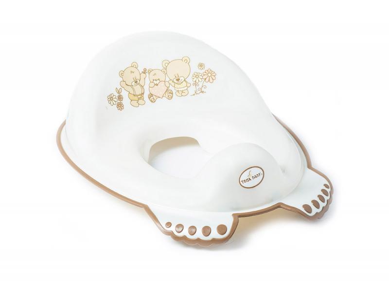 Tega Baby redukce na toaletu protiskluzová Méďa - bílá perleť
