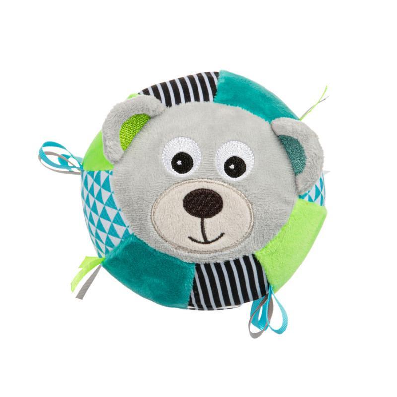 Canpol babies Plyšový senzorický míček Medvídci - šedá