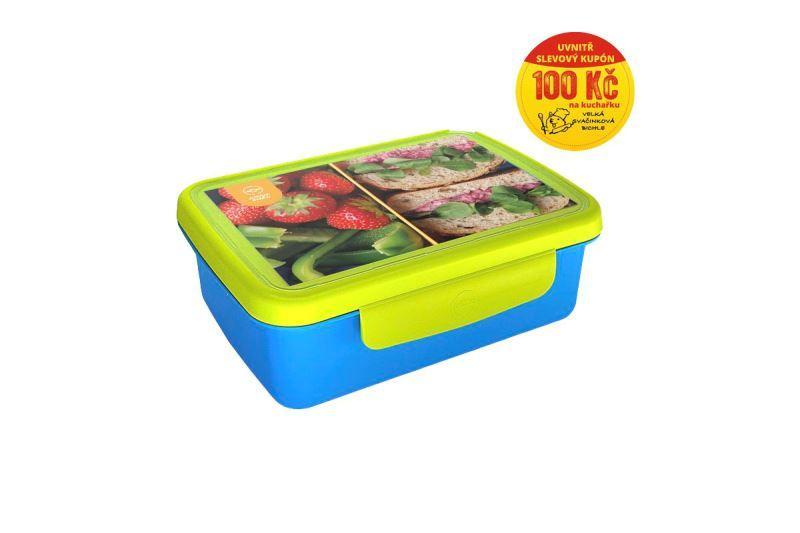 Zdravá sváča komplet box Recepty - modrá/zelená