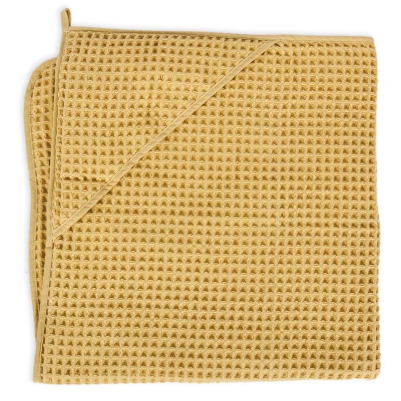 Ceba baby Ručník s kapucí Waffle Line 100 x 100 cm - Gold
