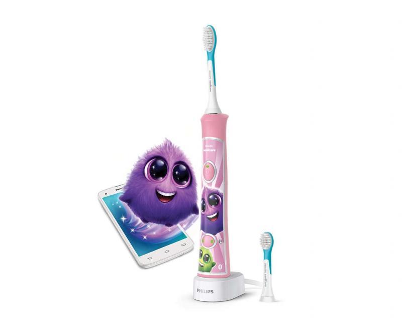 Philips Avent Zubní kartáček elektrický dětský Sonicare - růžová