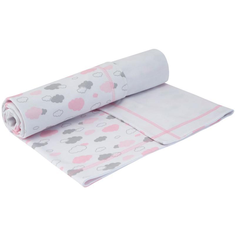 Esito Letní dětská deka dvojitá bavlna Mráček - růžová