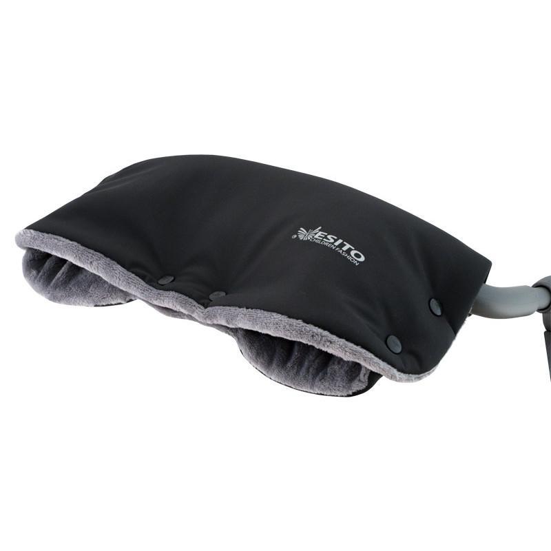 Esito Rukávník na kočárek Magna softshell s reflexem - černá/šedá