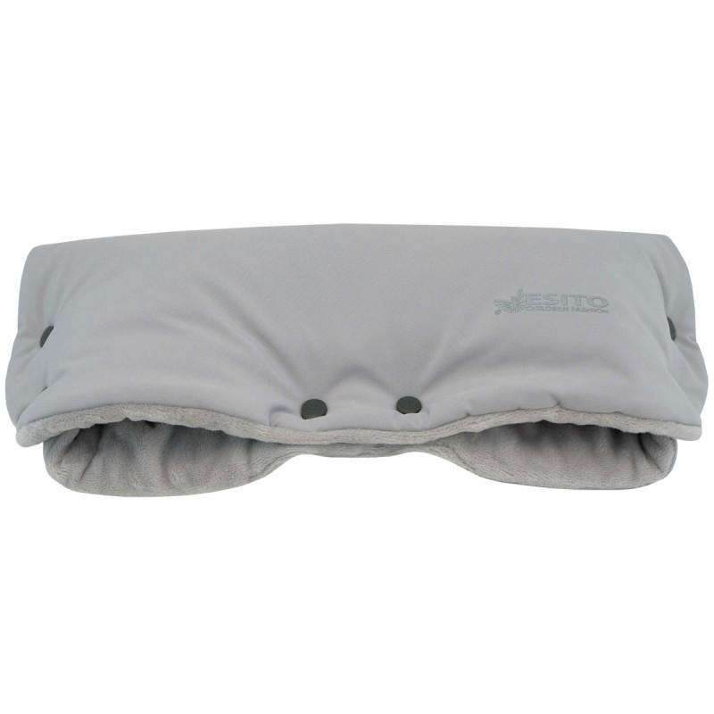 Esito Rukávník na kočárek Magna softshell s reflexem - šedá/stříbrná