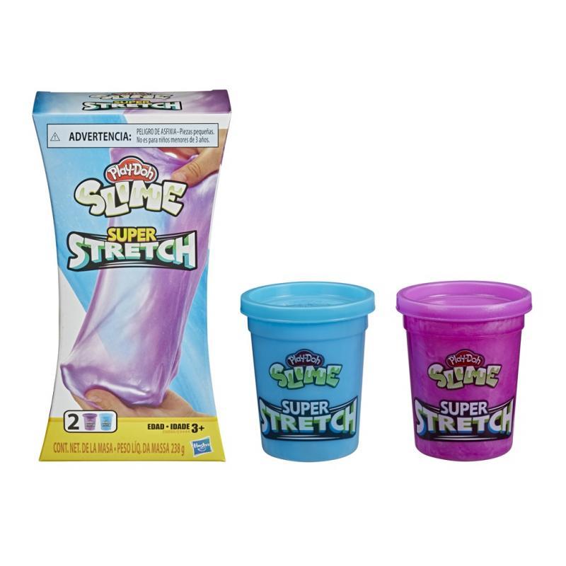 Hasbro Play-Doh Super natahovací modelína - modrá/fialová