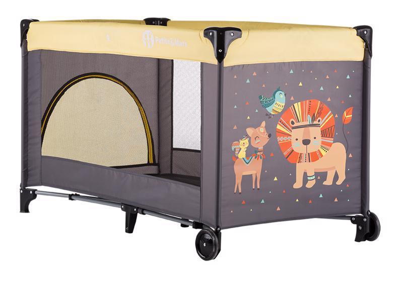 Cestovní postýlka Petite&Mars Koot - Lion Yellow