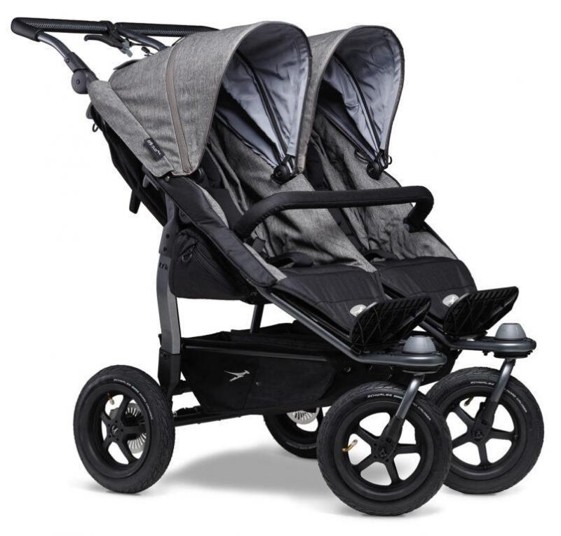 Kočárek TFK Duo Stroller Air Wheel Premium - grey