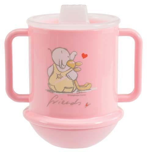 Bébé-Jou učící hrneček - Humphrey růžová*