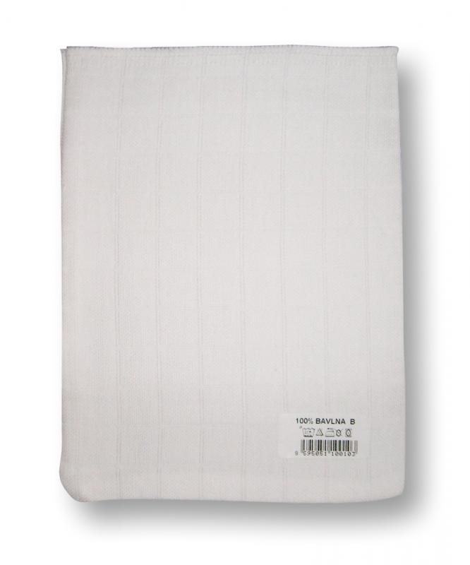 LTZ - Bavlněná žínka tetra 14x19 cm - bílá