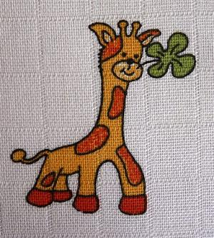 LTZ - Bavlněná žínka tetra 14x19 cm - žirafka