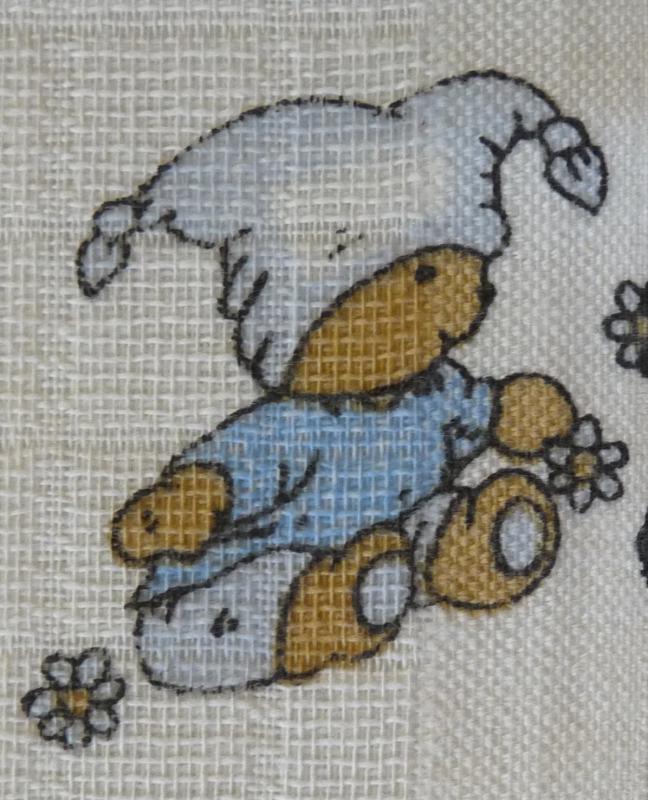 LTZ - Bavlněná žínka tetra 14x19 cm - méďa modrý