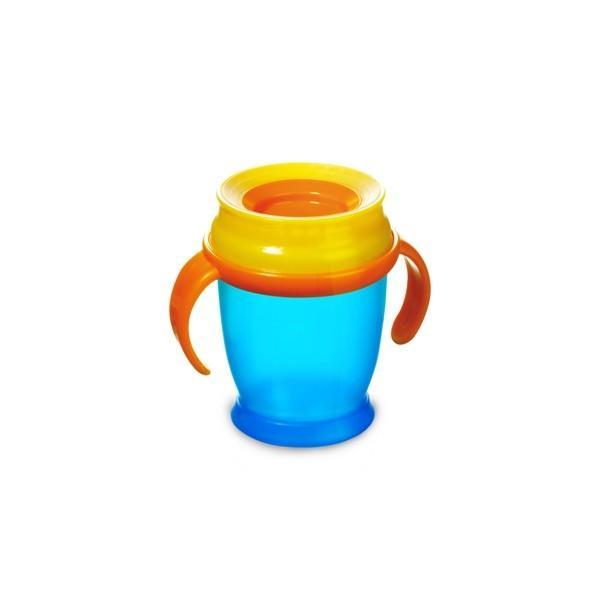 LOVI nevylévací hrníček 360° MINI 210 ml s úchyty bez BPA - modrá