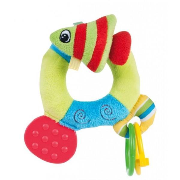 Canpol babies plyšové chrastítko s kousátkem oceán - rybička