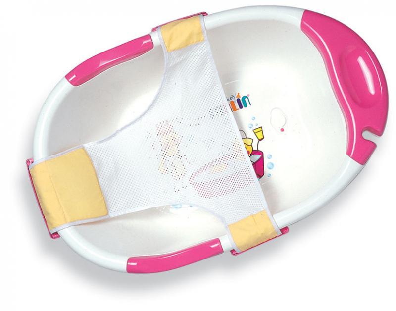 Farlin dětská vanička exclusive se síťkou - růžová