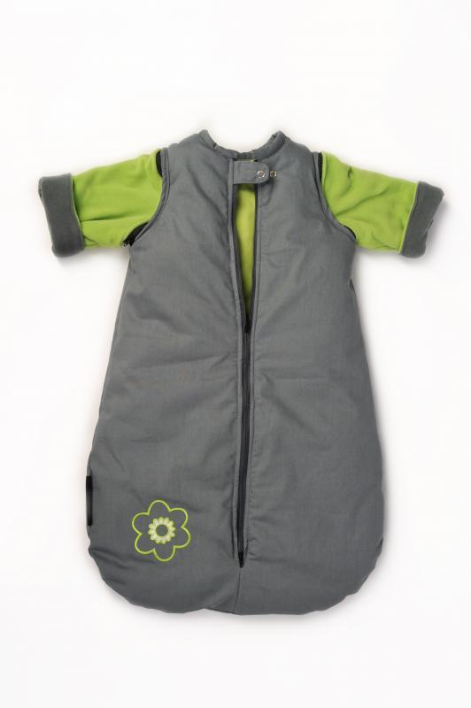 Babyvak Spací pytel s odepínacími rukávy malý - šedá/zelená